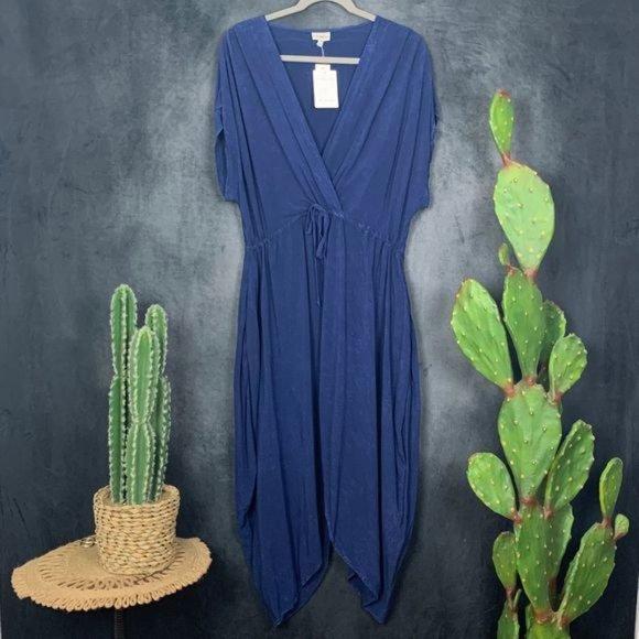 🆕The Odells Harem Blue Mineral Wash Dress LP